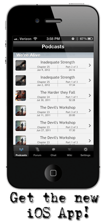 Download the We're Alive iOS application today!