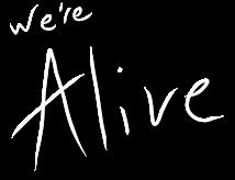 We're Alive Logo